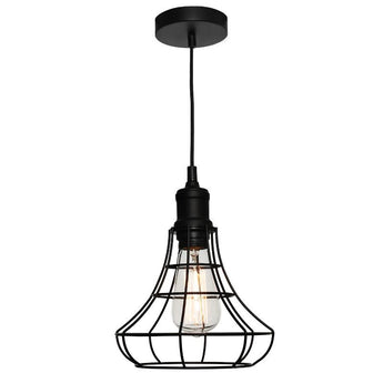 Cage Pendant Black - The Lighting Lounge Australia