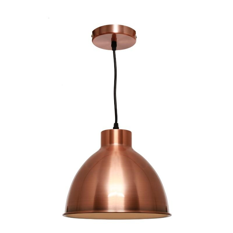 Dome Pendant Brushed Copper - The Lighting Lounge Australia