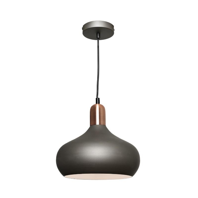 Sloan Pendant Charcoal and Copper