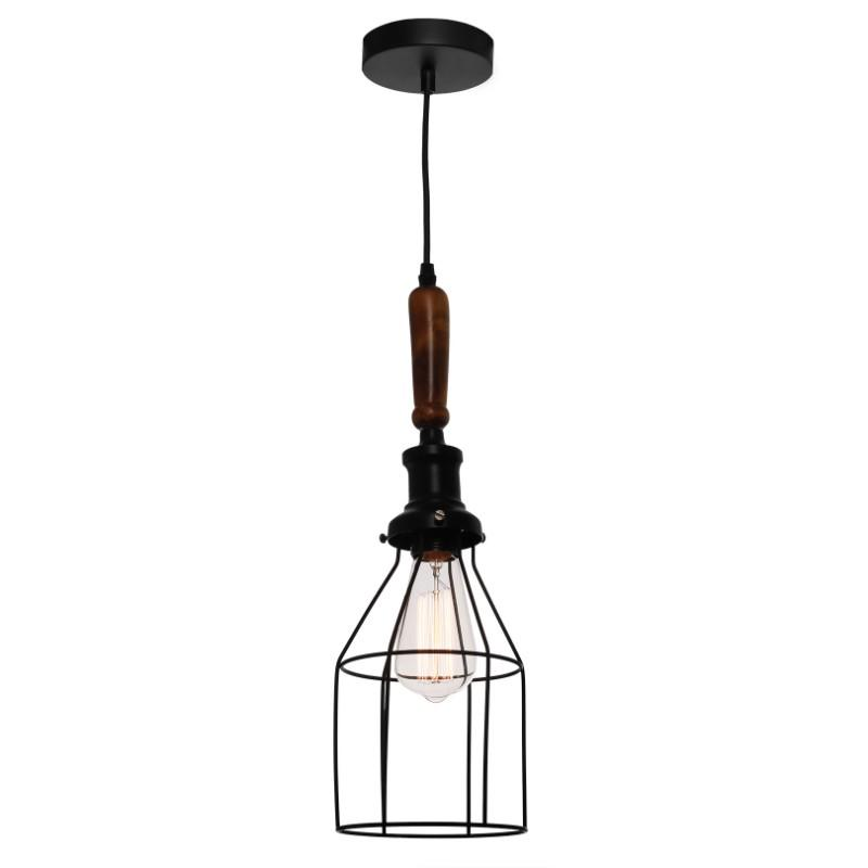 Spindle Black Wire Pendant - The Lighting Lounge Australia
