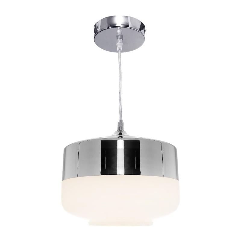 Turner Matt Opal and Chrome Pendant - The Lighting Lounge Australia