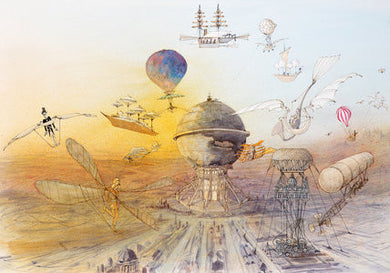 Ralph Steadman Signed The Big I Am Hot Air Baloons Art Print