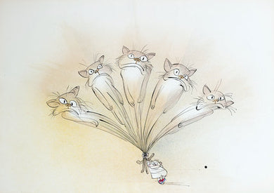 Ralph Steadman Signed No Room To Swing A Cat Print