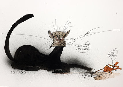 Ralph Steadman Signed Book of Cats Print 6