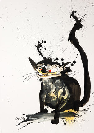 Ralph Steadman Signed Book of Cats Print 1