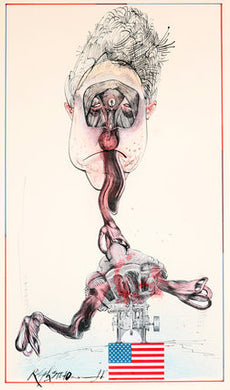 Ralph Steadman Bill Clinton Print