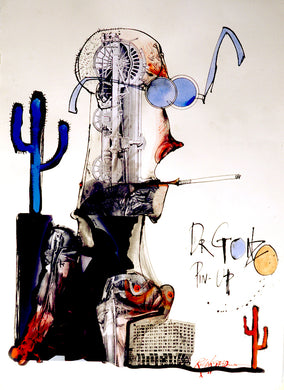 Ralph Steadman Signed Dr. Gonzo Hunter S. Thompson Print