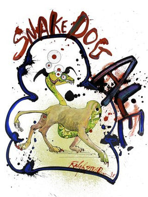 Ralph Steadman Flying Dog Snake Dog Ale Signed Print
