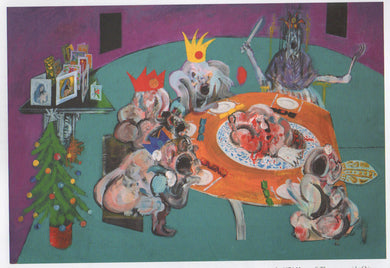 Ralph Steadman Signed Francis Bacon Christmas Party Print