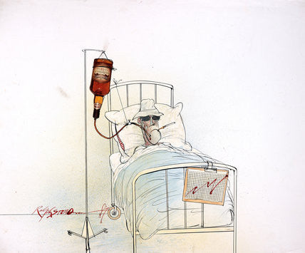 Ralph Steadman Signed Hunter S. Thompson Bed Print