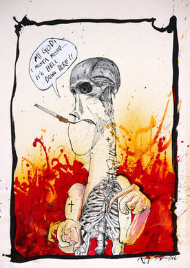 Ralph Steadman Signed Hunter S. Thompson My God Print