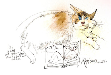Ralph Steadman Signed Book of Cats Print 7