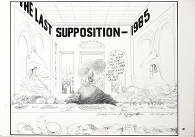 Ralph Steadman Maggie The Last Supposition Signed Print