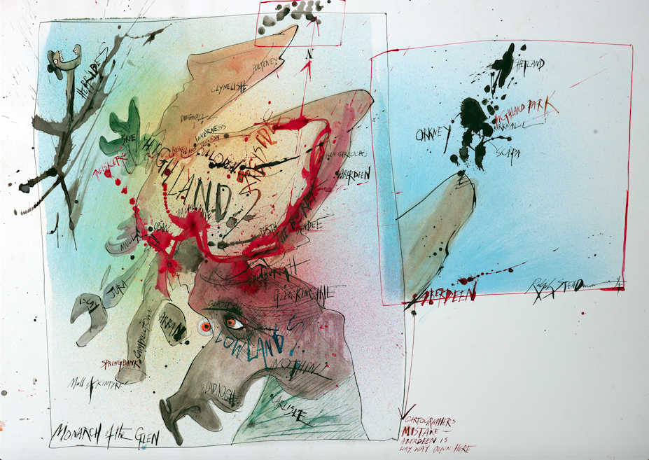 Ralph Steadman Signed Monarch of the Glen Print
