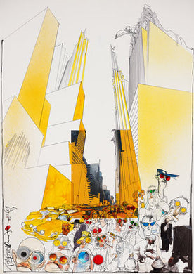 Ralph Steadman New York Street Signed Art Print