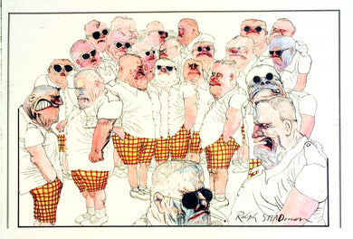 Ralph Steadman Signed Police Convention Print From Fear and Loathing in Las Vegas