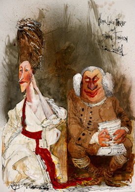 Ralph Steadman Samuel Johnson Print