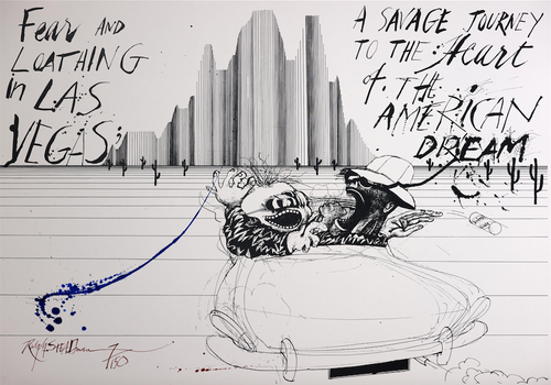 Signed Ralph Steadman Savage Journey American Dream Limited Edition Featuring Hunter S. Thompson