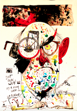 Ralph Steadman Signed Self Portrait Print