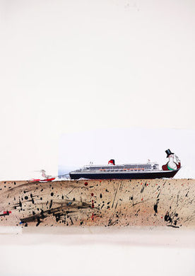 Ralph Steadman Speed Boat Tug Signed Art Print