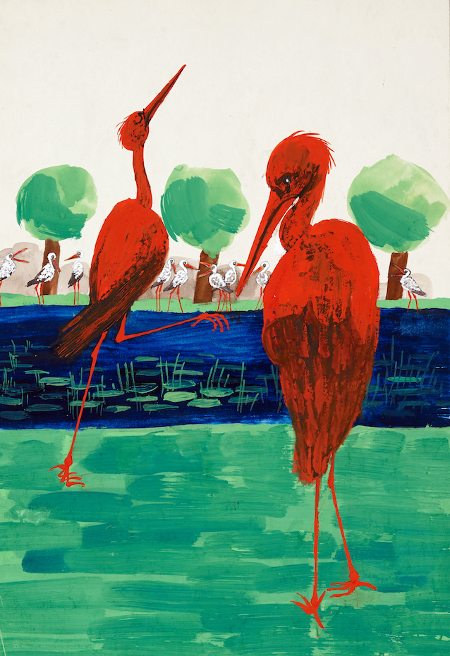 Ralph Steadman Signed The The False Flamingoes 3 Print
