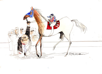 Ralph Steadman Signed Kentucky Derby Print