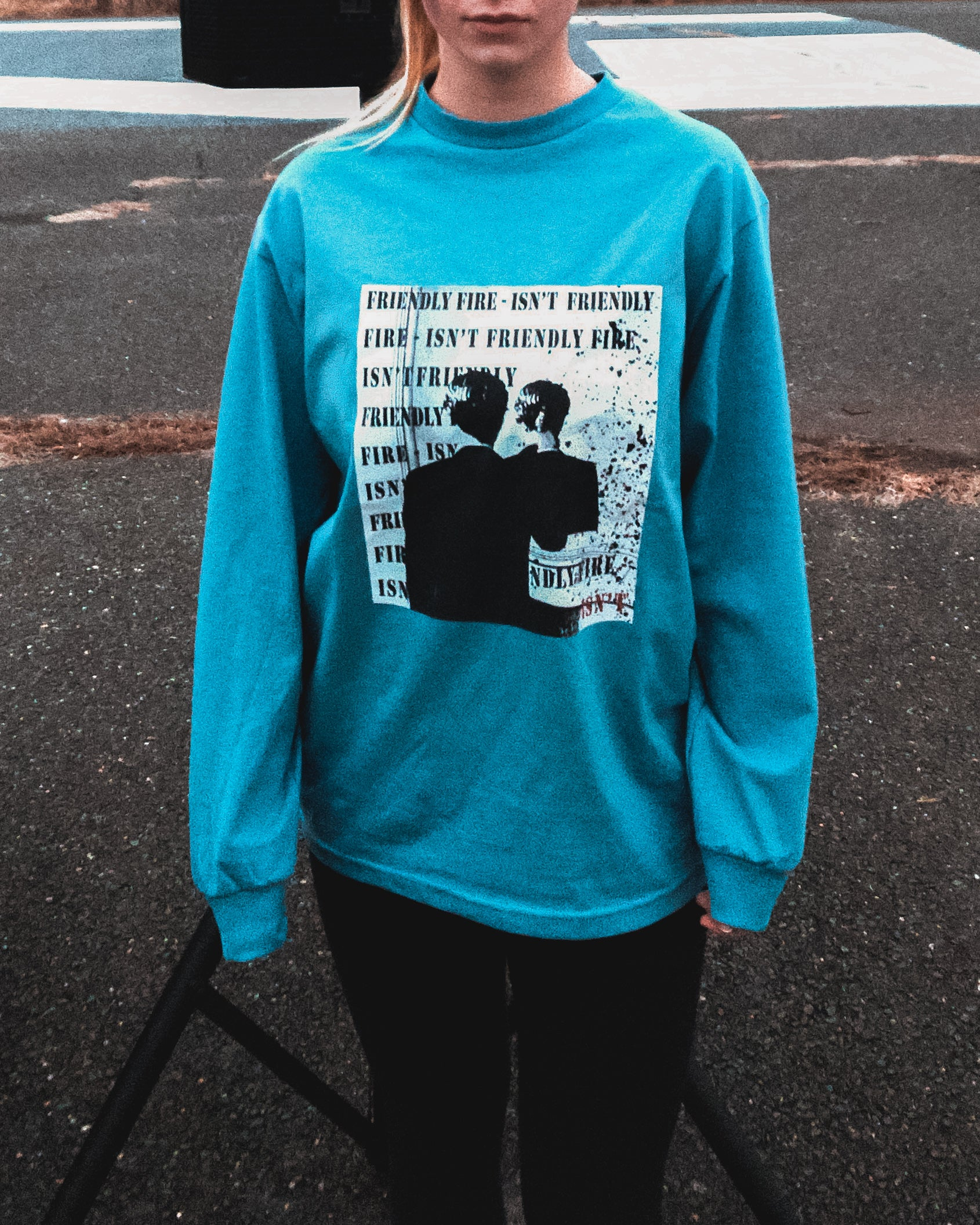 'Friendly Fire' Long Sleeved Tee