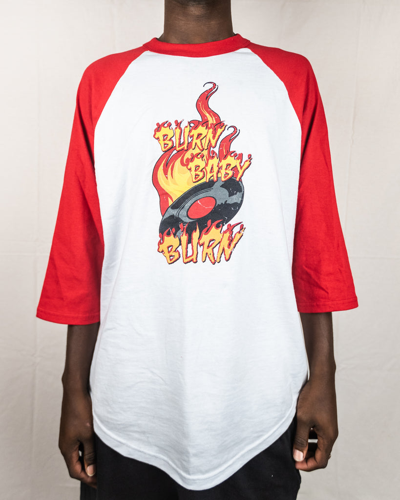 'Burn Baby Burn' 3/4 Sleeve Graphic Tee