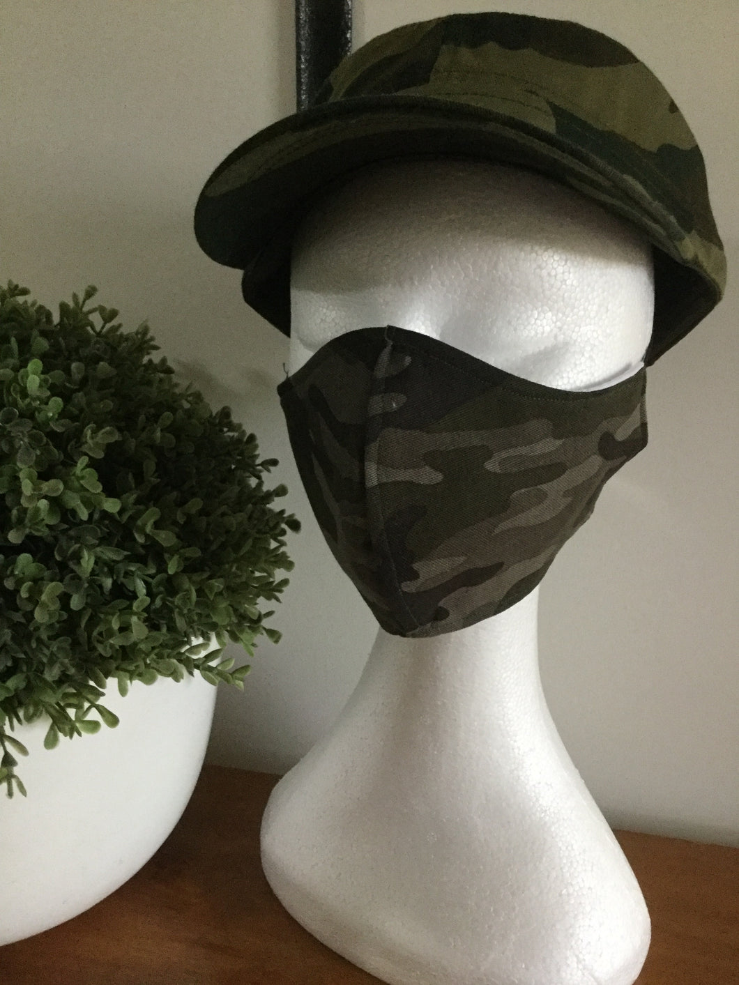 Men's Cotton Face Mask Navy Blue,Khaki Green, Black  or Camouflage- Non Surgical
