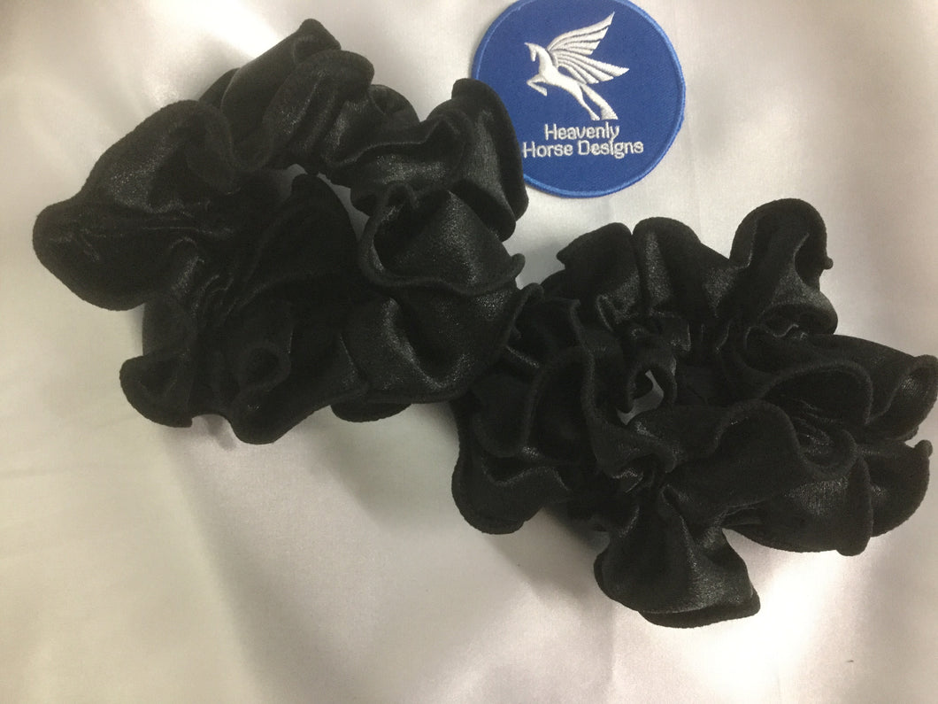 HHD 'Lizzy' Dressage Show Double Hair Scrunchie Black