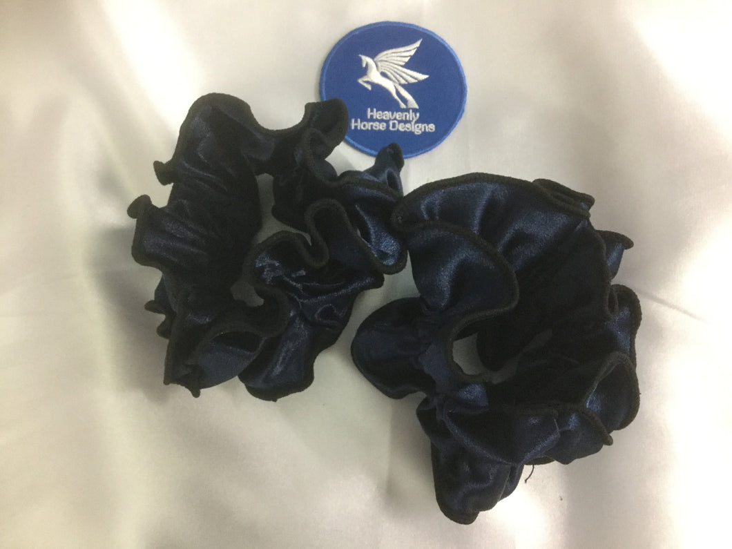 HHD 'Lizzy' Dressage Show Double Hair Scrunchie Navy Blue