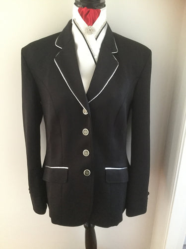 HHD Show Riding Dressage Stretch Jacket Navy Blue or Black with  Silver