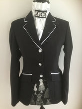 HHD Show Riding Dressage Cutaway Jacket Navy Blue or Black Diamonte Buttons