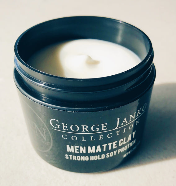 GEORGE JANKO  MEN MATTE CLAY + FREE MEN CHARCOAL 10PCS. WIPES PACK