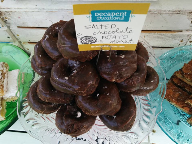 Salted Chocolate Potato Donut
