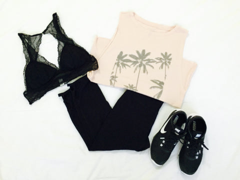 LA Love Tee, Leggings, Shoes