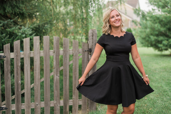 Fit-and-flair skirt, little black dress - Audrey dress