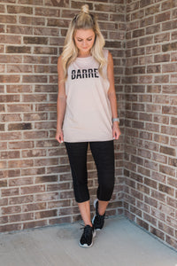 Rose Quartz, lightweight, dropped arm holes, athleisure wear - Barre Tee