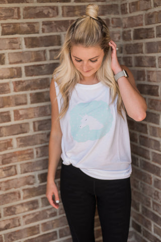 White, lightweight, dropped arm holes, athleisure wear - Dream Tee