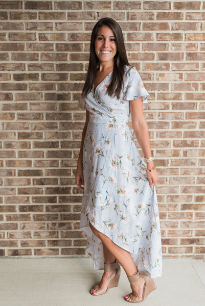 Floral print, front detail, wrapped maxi dress - Lucy dress