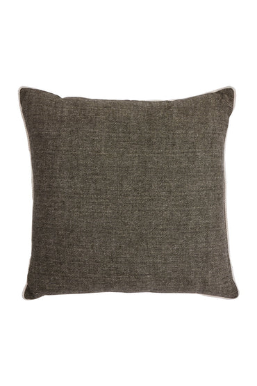 BONNIE AND NEIL LINEN CUSHION DARK OLIVE 60 X 60CM