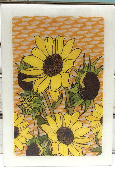 LOST & FOUND ART CO MAXI WOODBLOCK SUNFLOWER
