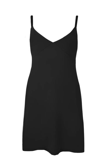 CURATE SLIP UP BLACK SLIP DRESS