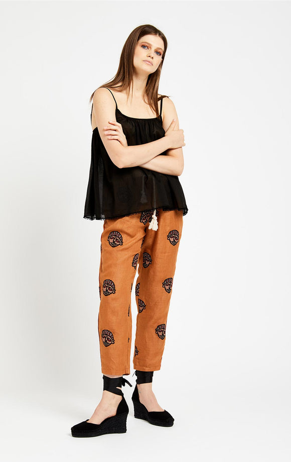 OTTOD'AME AFRIKA CROPPED TROUSERS