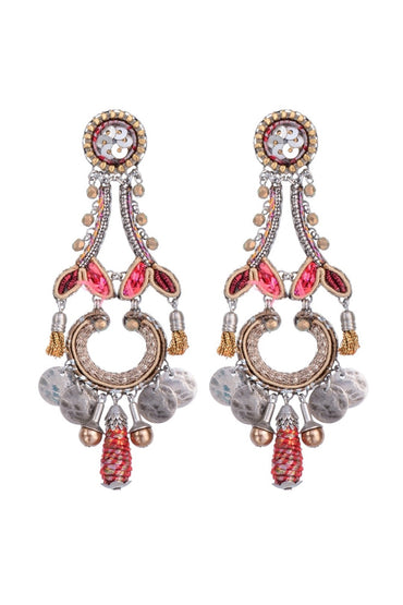 AYALA BAR BIRCH SARIT EARRING PINK/GOLD