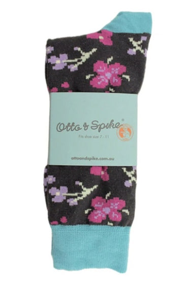 OTTO & SPIKE CHERRY BOMB FLORAL SOCKS