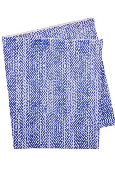 BONNIE & NEIL TINY WAVES TABLECLOTH YVES KLEIN BLUE