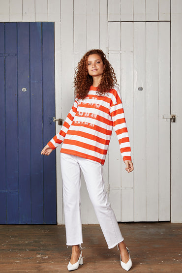 LONG JOHN SILVER L/S TOP RED STRIPE