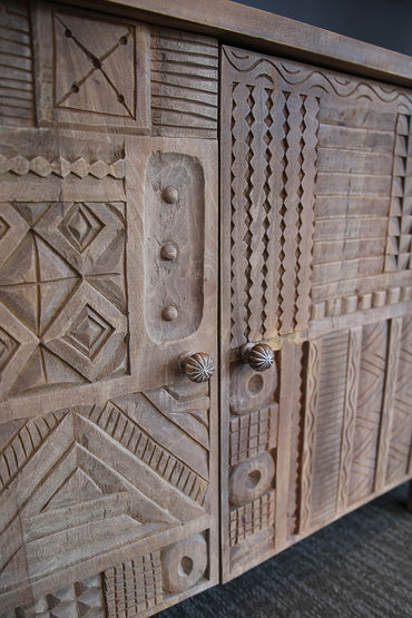 RUBY STAR TRADERS MANGO-WOOD CARVED SIDE BOARD