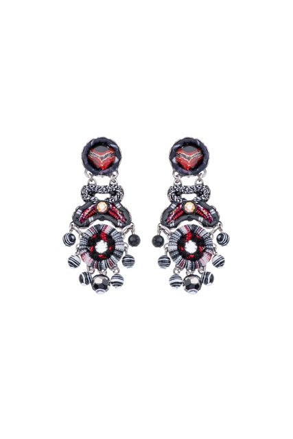 AYALA BAR H1020 EARRING RED/BLACK/WHITE